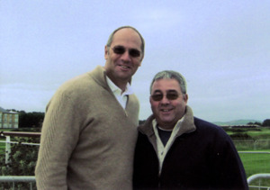Steve Redgrave with Ken Mills of Writestuff Autographs of Lancaster.