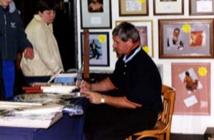 Sir Richard Hadlee Signing for Writestuff Autographs of Lancaster.
