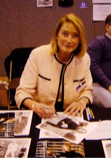 "Tania Mallett "" Tilly Masterson "" Signing for Writestuff Autographs of Lancaster."