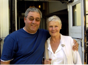 Judi Dench with Ken Mills of Writestuff Autographs of Lancaster