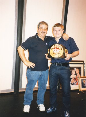 Ricky Hatton with Ken Mills