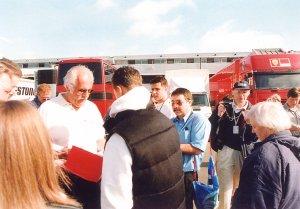 Michael Schumacher with Ken Mills