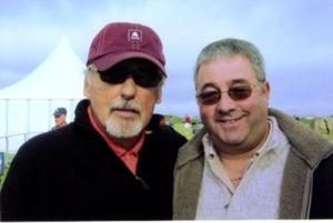 Dennis Hopper with Ken Mills of Writestuff Autographs of Lancaster.
