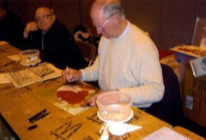 "Jackie Charlton "" England World Cup 1966 "" Signing for Writestuff Autographs of Lancaster."