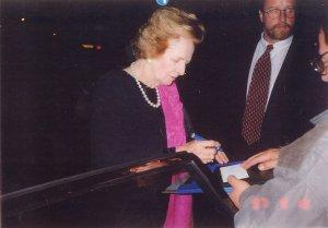 Baroness Margaret Thatcher with Ken Mills
