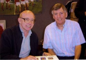 Nobby Stiles and Martin Peters Signing for Writestuff Autographs of Lancaster.