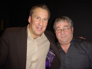 Ken Mills of Writestuff Autographs Lancaster with Paul Merson
