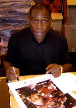Frank Bruno Signing for Writestuff Autographs of Lancaster.