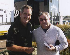 Sam Torrance with Ken Mills