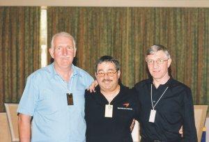 Alex Stepney and Ken Buchanan with Ken Mills