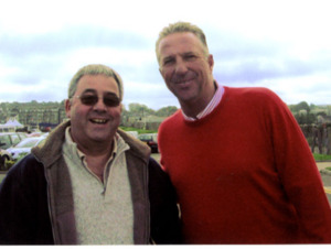 "Ian "" Beefy "" Botham with Ken Mills of Writestuff Autographs of Lancaster."