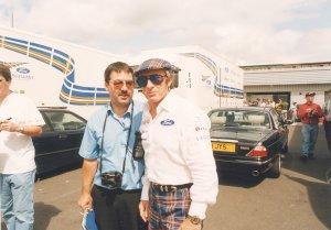 Jackie Stewart with Ken Mills