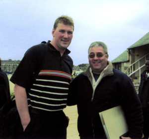 "Matthew Pinsent "" Olympic Rower "" with Ken Mills of Writestuff Autographs of Lancaster."