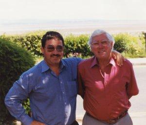 Len Shackleton with Ken Mills