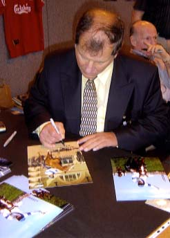 Bob Champion Signing for Writestuff Autographs of Lancaster.