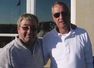 Johan Cruyff ( Dutch Footballing Legend ) with Ken Mills