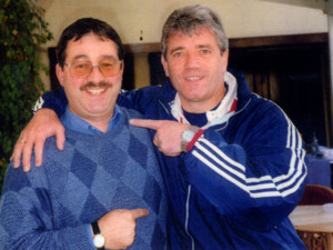 Kevin Keegan with Ken Mills of Writestuff Autographs of Lancaster
