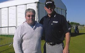 Lee Westwood with Ken Mills