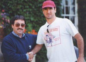 Eric Cantona with Ken Mills