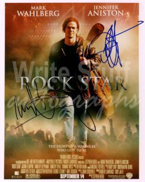Mark Wahlberg and Jennifer Aniston in ' Rock Star ' Signed Photograph Autographs