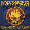 The Offspring ' Conspiracy of One '   Signed C.D. Album Insert Cover  Music Autographs